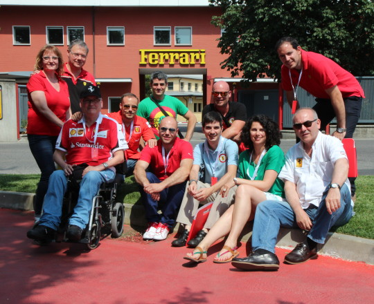 With my friends of the Ferrari Club Spain in front of the Ferrari factory