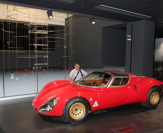 With the Alfa Romeo 33 Stradale in my 33th birthday