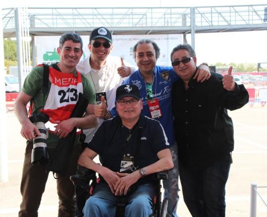 Aleix Grau, Fede García, Marcel Moix, Quim Gasull and me