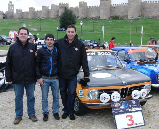 Miguel Angel Muiños and Antonio Campos in Rally of Spain 2010 with BMW 2002